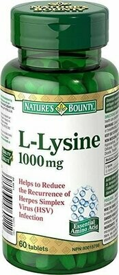 Nature's Bounty L-Lysine - 1000 mg - 60 Tablets