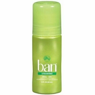 Ban Anti-Perspirant Deodorant Original Roll-On Unscented 1.50 oz