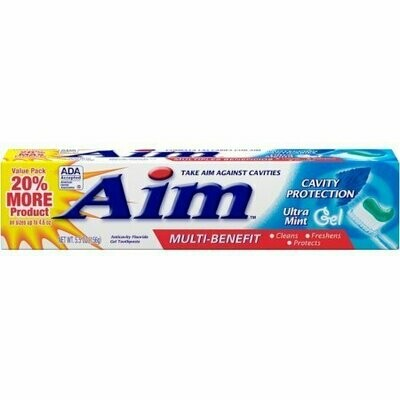 Aim Multi-Benefit Cavity Protection Gel Toothpaste, Ultra Mint 5.50 oz