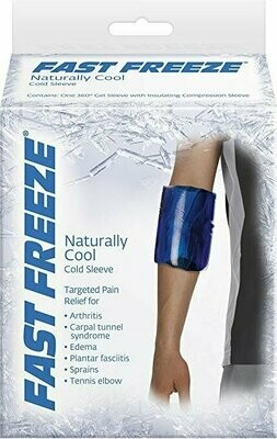 Fast Freeze Naturally Cool Cold Therapy: Compression Sleeve, X-Large
