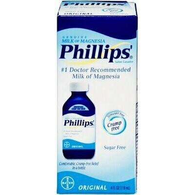 Philips Milk Of Magnesia Saline Laxative, Original 4 oz