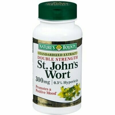 Nature's Bounty St. John's Wort 300 mg Capsules 100 each
