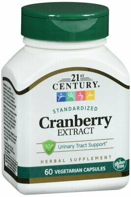 21ST CENTURY CRANBERRY EXTRACT VEGETARIAN CAPSULE 60 CT