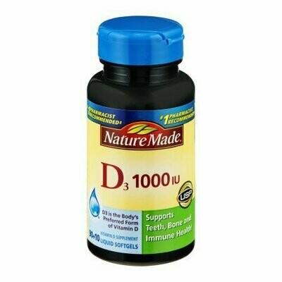 Nature Made D3 1000 IU Liquid Softgels - 100 CT