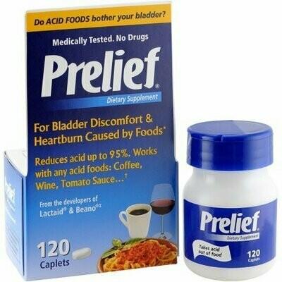 Prelief Acid Reducer Dietary Supplement 120 Caplets