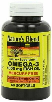 Nature's Blend Omega-3 Fish Oil Odorless 60 Softgels