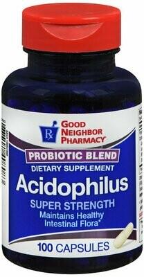 GNP ACIDOPHILUS PROBIOTIC BLEND CAPS 100 CT