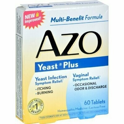 AZO YEAST TABLET 60 CT