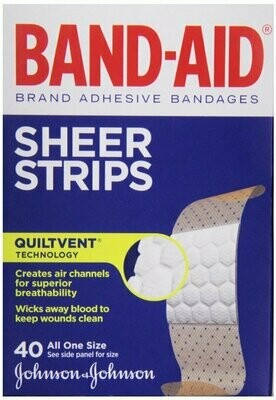 BAND-AID COMFORT-FLEX SHEER 1 SIZE 40CT