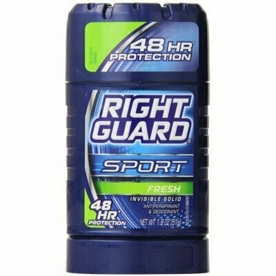Right Guard Sport Invisible Solid Antiperspirant & Deodorant Stick, Fresh 1.8 oz