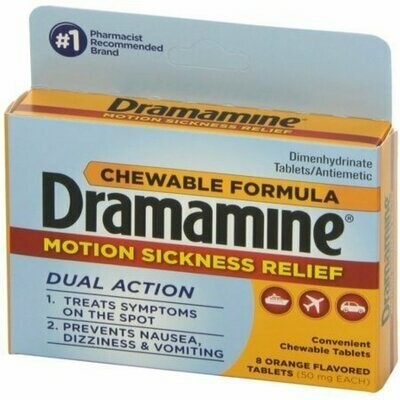 Dramamine Motion Sickness Relief Chewable Tablets 8 each