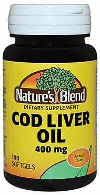 Nature��s Blend Cod Liver Oil 100 Softgels