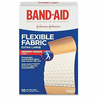 Band-Aid Flexible Fabric Bandages Extra Large All One Size - 10 ct