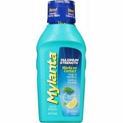 MYLANTA Maximum Strength Liquid Antacid + Anti-Gas, Classic Flavor 12 oz