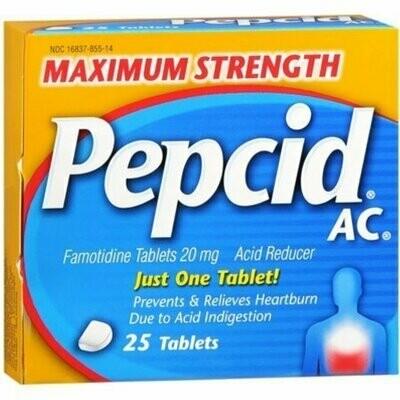 Pepcid AC Tablets Maximum Strength 25 Tablets