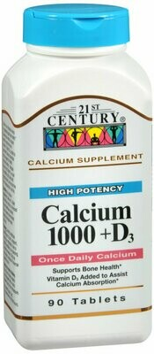 CALCIUM+D 1000MG TABLET 90CT