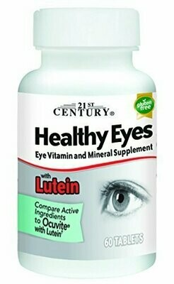 21st Century Healthy Eyes with Lutein Tablets, 60 Count