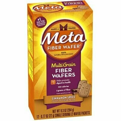 Metamucil MultiGrain Fiber Wafers, Cinnamon Spice 24 each