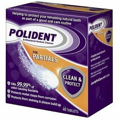 Polident Partials, Antibacterial Denture Cleanser 40 each