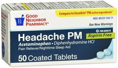 GNP HEADACHE PM TAB 50
