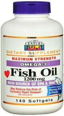 FISH OIL 1200MG SOFTGEL 140CT