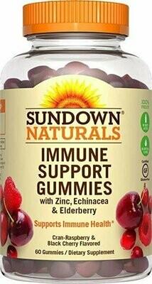 Sundown Naturals Immune Support w/Elderberry, 60 Gummies