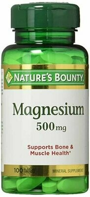 Nature's Bounty Magnesium 500 mg Tablets 100 each