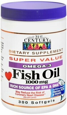 FISH OIL OMEGA-3 SOFTGELS 300CT