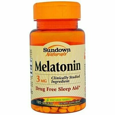 Sundown Naturals Melatonin 3 Mg, 120 Count