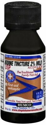 IODINE TINCTURE 2% MILD 1OZ HUMCO