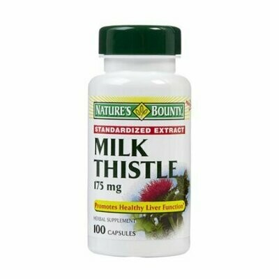 Milk Thistle 175 Mg Standardized Extract Capsules By Natures Bounty - 100 Each