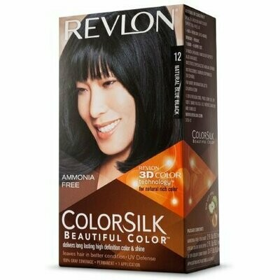 Revlon Colorsilk Beautiful Color, Natural Blue Black [12] 1 each