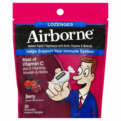 Airborne Vitamin C Immune Support Lozenges, Berry 20 each