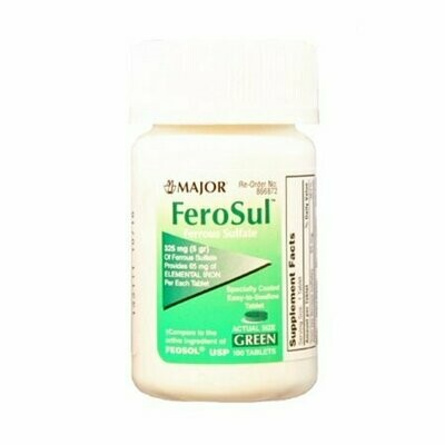 Ferrous Sulfate Green Tablets 325 mg 100 tablets