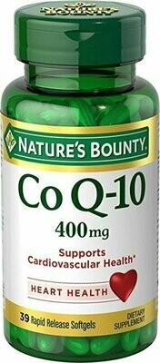 Nature's Bounty Cardio Q10, Co Q-10 400 mg Softgels 39 each