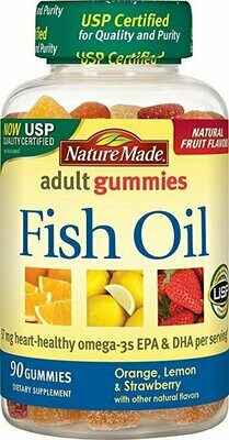Nature Made Fish Oil Adult Gummies (57 mg of Omega-3s EPA & DHA per serving) 90 Ct