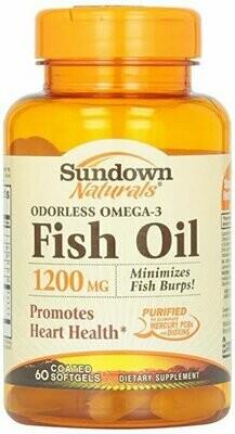 Sundown, Fish Oil 1200 Mg Odorless Softgels, 60 ct
