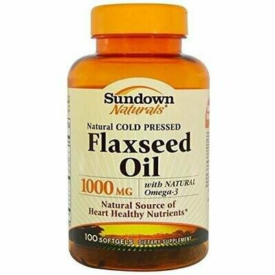 Sundown Naturals Flaxseed Oil 1000 Mg, 100 Count
