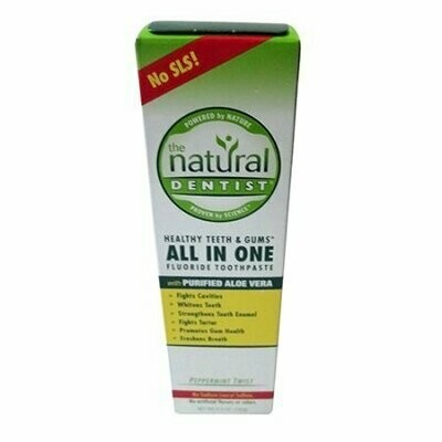 Natural Dentist All In One Fluoride Toothpaste, Peppermint Twist, 5 Oz