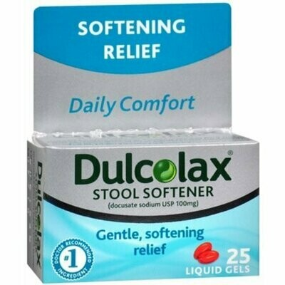Dulcolax Stool Softener Liquid Gels 25 each