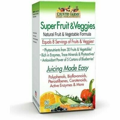 Country Farms Super Fruits & Veggies Capsules 60 each