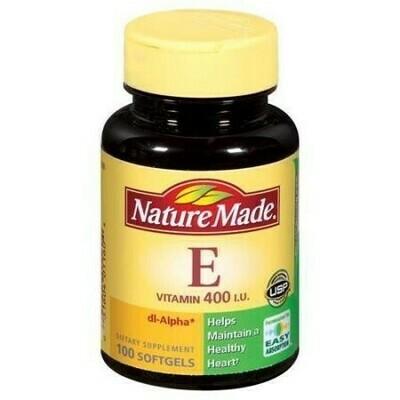 Nature Made E Vitamin 400 I.U. Dietary Supplement Softgels - 100 CT