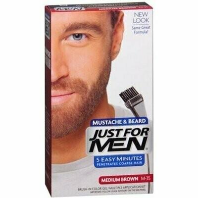 JUST FOR MEN Color Gel Mustache & Beard M-35 Medium Brown 1 Each