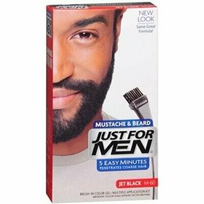 JUST FOR MEN Color Gel Mustache, Beard & Sideburns 115 Jet Black 1 Each