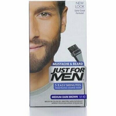 JUST FOR MEN Brush-In Color Gel, Medium-Dark Brown M-40 1 each