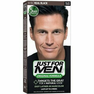 JUST FOR MEN Hair Color H-55 Real Black 1 Each