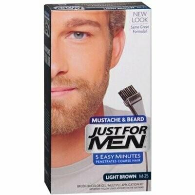 JUST FOR MEN Color Gel Mustache & Beard M-30 Light-Medium Brown 1 Each