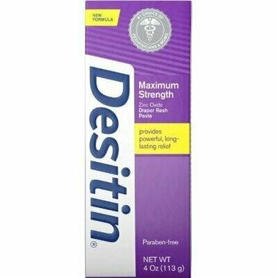 DESITIN Maximum Strength Diaper Rash Paste 4 oz