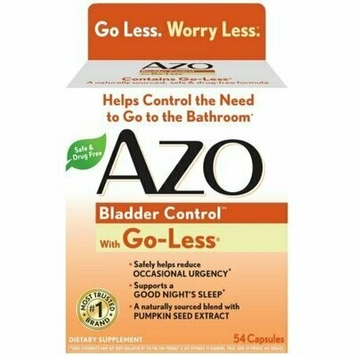 AZO Bladder Control with Go-Less Capsules 54 each