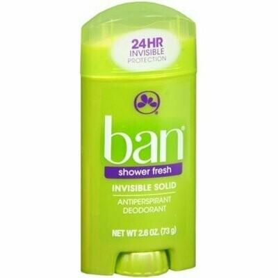 Ban Anti-Perspirant Deodorant Invisible Solid Shower Fresh 2.60 oz